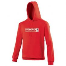 Listooder Hoodie Adults - Fire Red 2018